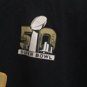 Nike Shirts - Nike Super Bowl 50 Black + Gold Foil T-Shirt